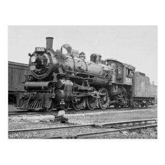Moteur national canadien 5078 de chemin de fer carte postale
