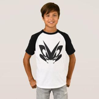 moth design - Kids' Short Sleeve Raglan T-Shirt
