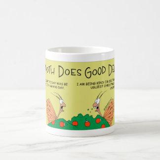 Moth does a good deed coffee mug