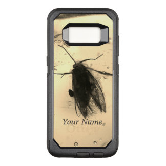 Moth inside amber OtterBox commuter samsung galaxy s8 case