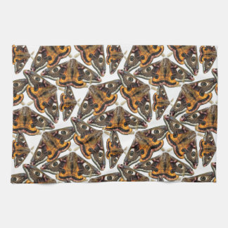 Moth pattern kitchen towel