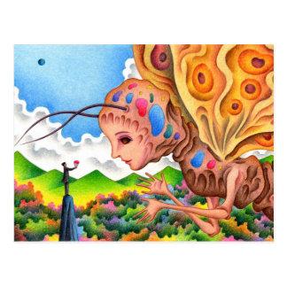 Moth queen postcard
