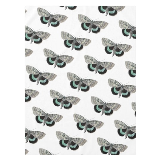 Moth vintage illustration tablecloth