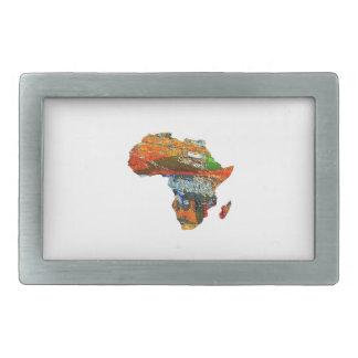 Mother Africa Rectangular Belt Buckles
