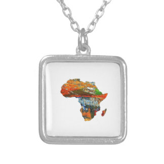 Mother Africa Silver Plated Necklace