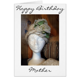 """MOTHER"" AND A VERY LOVELY LADY ON YOUR BIRTHDAY GREETING CARD"