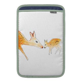 Mother and baby deer MacBook sleeves