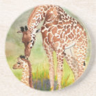 Mother and Baby Giraffes Coaster