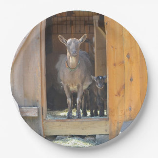 Mother And Baby Goat Plate