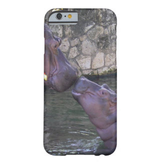 Mother and Baby Hippo Greeting Barely There iPhone 6 Case