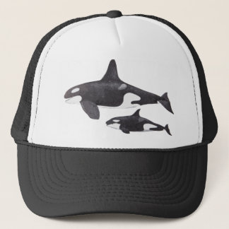 Mother and Baby Orca Trucker Hat