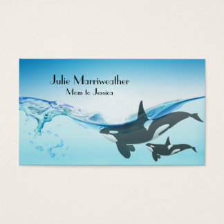 Mother and Baby Orca Whale Mommy Card