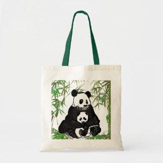 Mother and Baby Panda/Mamá y Bebé Panda Tote Bag