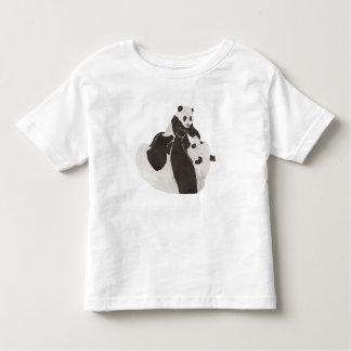 Mother and baby panda playing toddler t-shirt