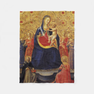 Mother and Bambino Antique Colors Religious Fleece Blanket