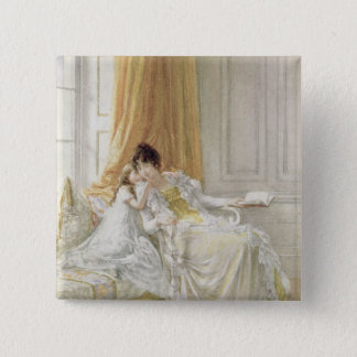 Mother and Child, 1864 2 Inch Square Button