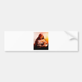 MOTHER AND CHILD 2 BUMPER STICKER