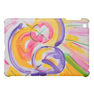 Mother and child abstract ipad cover