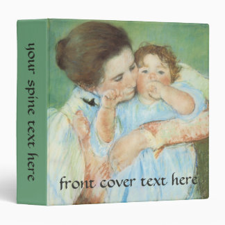 Mother and Child by Cassatt, Vintage Impressionism 3 Ring Binder