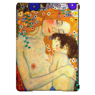 Mother and Child by Gustav Klimt Art Nouveau iPad Air Cases