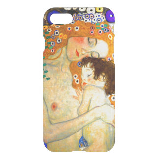 Mother and Child by Gustav Klimt Art Nouveau iPhone 7 Case
