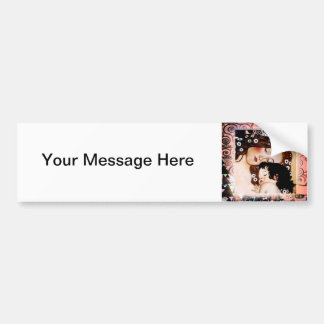 Mother and Child by Gustav Klimt Collage Bumper Sticker