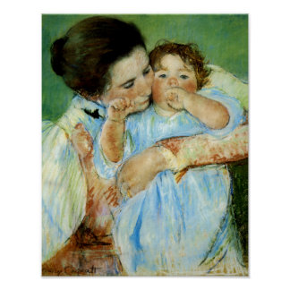 Mother and Child by Mary Cassat Poster