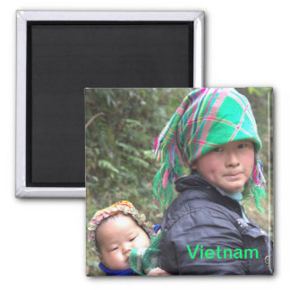 Mother and Child in Sapa Vietnam Magnet