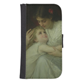 Mother and Child (oil on canvas) Galaxy S4 Wallet Cases