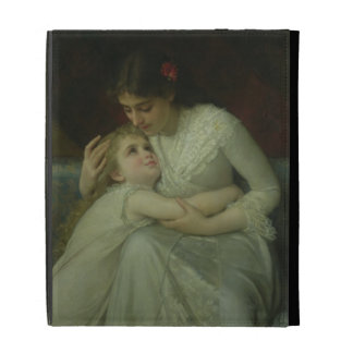 Mother and Child (oil on canvas) iPad Case