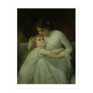 Mother and Child (oil on canvas) Postcard