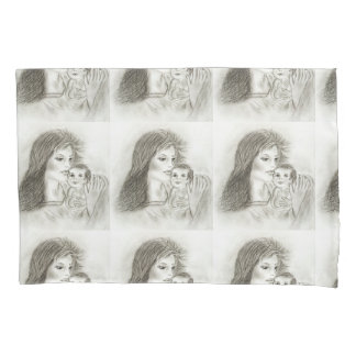 Mother and child pillowcase