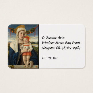 Mother and Child Under Garland Business Card