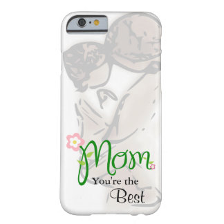 Mother and Child with Floral Mom & Custom Text Barely There iPhone 6 Case