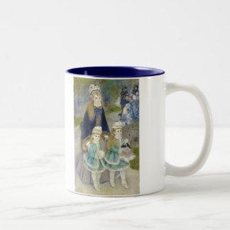 Mother and Children, La Promenade, Renoir Two-Tone Coffee Mug