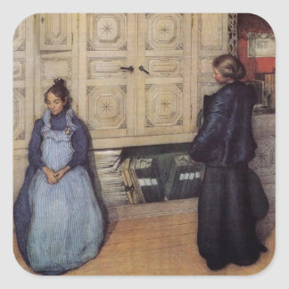 Mother and Daughter 1903 Square Sticker