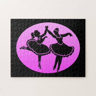 Mother and Daughter dancers Jigsaw Puzzle