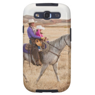 Mother and daughter riding horse galaxy SIII cover
