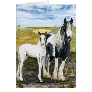 'Mother and Foal' Card