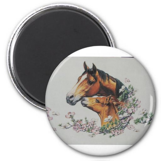 Mother and Foal Refrigerator Magnet