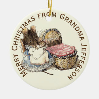 Mother and Newborn Child Personalized Ceramic Ornament