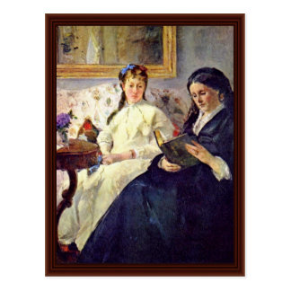 Mother And Sister Of The Artist By Morisot Berthe Postcard