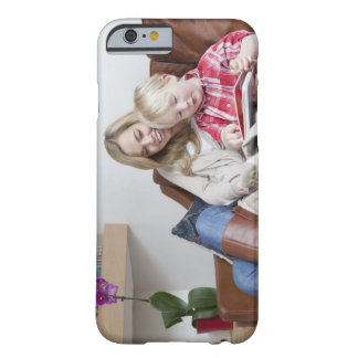 Mother and son sitting on sofa together barely there iPhone 6 case