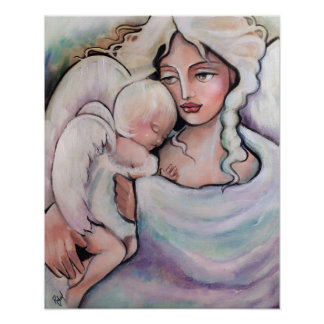 Mother Angel and Child Poster