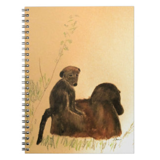 Mother & Baby Baboons - Wildlife Monkeys Primates Notebook