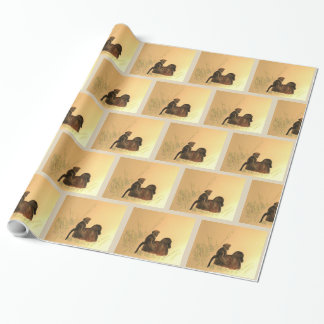 Mother & Baby Baboons - Wildlife Monkeys Primates Wrapping Paper