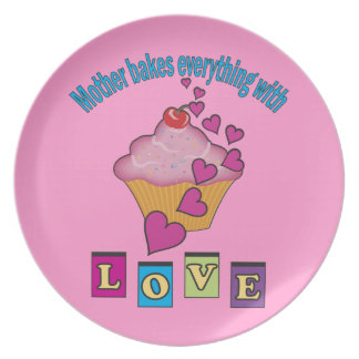 Mother Bakes with Love Plate