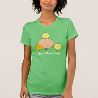 Mother Bird with Three Kids Mothers Day Shirt