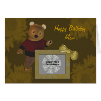 Mother Birthday Cute Bear Personalized Photo Card