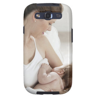 Mother breastfeeding baby 2 galaxy s3 covers